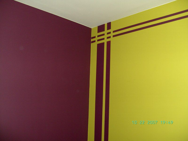 Galerie photos binnenhuisschilderwerken nicolas for Peinture acrylique pour mur interieur